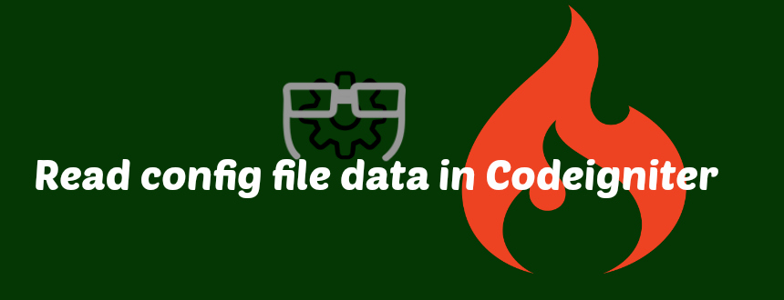 How to read the config file data in the application of Codeigniter